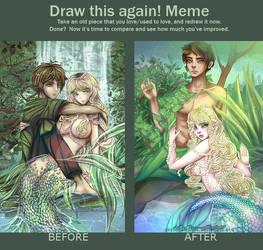Draw This Again: Aquielle and Basalt by PeppermintRain
