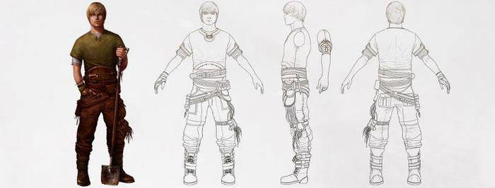 Creating a Character Turnaround from a Concept by CGCookie
