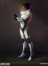 Concept Art Tutorial: Sci-Fi Female by CGCookie