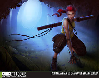 Course: Animated Character Splash Screen by CGCookie