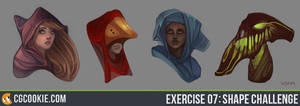 Exercise 07- Shape Challenge by CGCookie