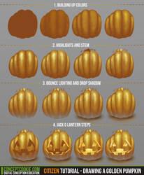 Citizen Tutorial - Drawing a Golden Pumpkin by CGCookie