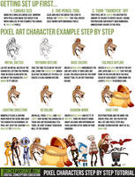 Pixel Characters Step by Step Tutorial by CGCookie
