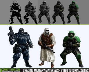 Shading Military Materials - Video Tutorial Series by CGCookie
