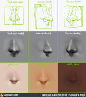 Drawing the Nose Video Tutorial by CGCookie