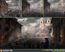 Tutorial: Painting a Rain Scene by CGCookie