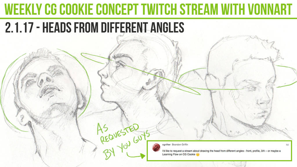 Twitch Stream Now Heads From Different Angles By Cgcookie On