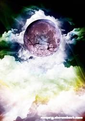 Moon Breaking Apart by MAYURG