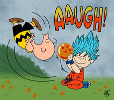 Charlie Brown vs. Goku by UncleScooter
