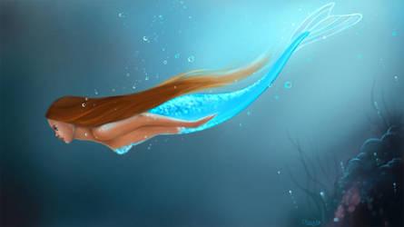 Diving Mermaid by Elfiore