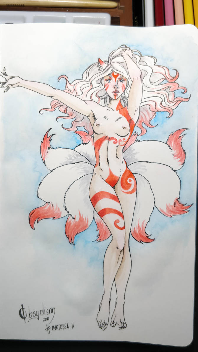 Day 11 - Primordial Kitsune - Arc three by Obsydienn