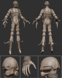 Ghost Zbrush Model by panick