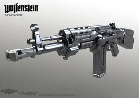 Assault Rifle 1960 Highpoly model by panick
