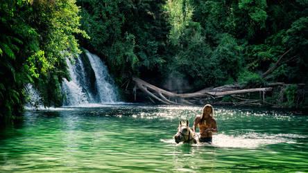 Maraetotara Falls by ImaginariumBlahnik