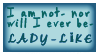 STAMP: lol, lady-like? by StampsGoneMissing