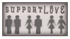 STAMP: Support Love - silver by StampsGoneMissing
