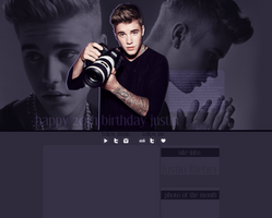 Justin Bieber layout by VelvetHorse