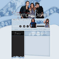 The Vampire Diaries layout 6 by VelvetHorse