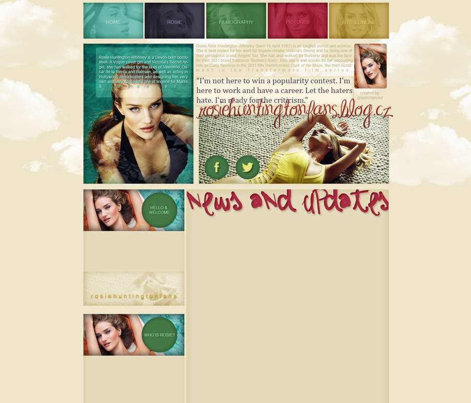 Rosie Huntington-Whiteley layout 4 by VelvetHorse