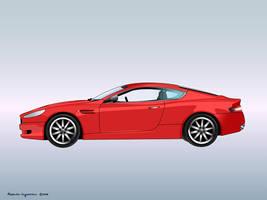 Aston Martin DB9 by awholeuniverse