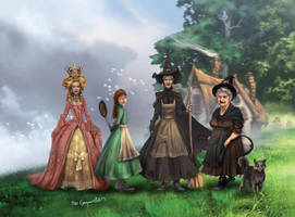 The Discworld Witches by bobgreyvenstein