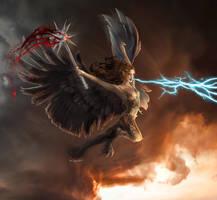 Commission: Windcaller Harpy by bobgreyvenstein