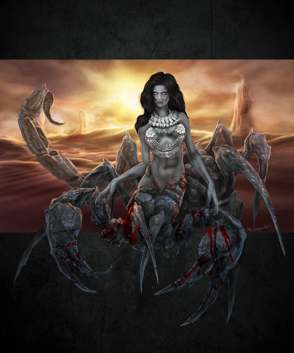 Commission: Dread Sayona scorpionfolk by bobgreyvenstein