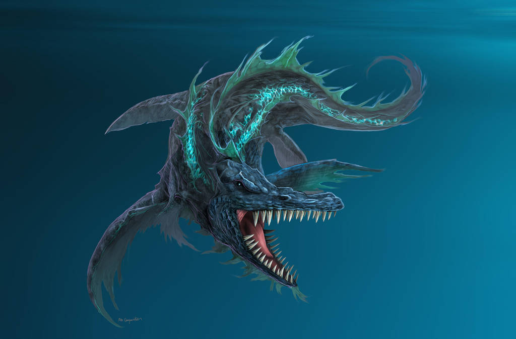 Liopleurodon - Dinosaur Commission by bobgreyvenstein