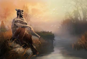 Satyr at dusk by bobgreyvenstein