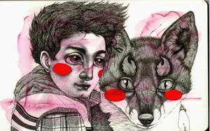 Little Megan And Her Fox by LadyOrlandoArt