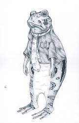 Toad by LadyOrlandoArt