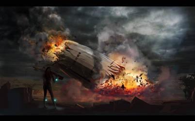 Falling Zeppelin by peppoW