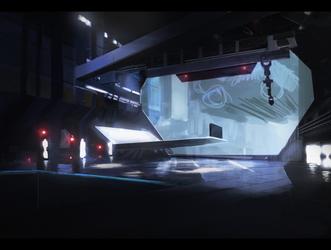 Sci fi base concept art by peppoW
