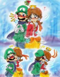 Mario: Mistletoe Customs by saiiko