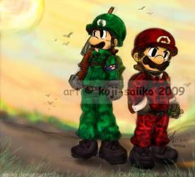 Mario: MK's Military Recruits by saiiko