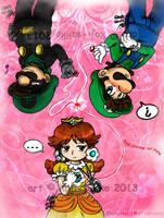 Mario: Unmei no Akai Ito by saiiko