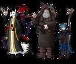 RPG characters by Brett-Neufeld