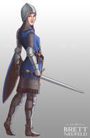 Lady Knight by Brett-Neufeld