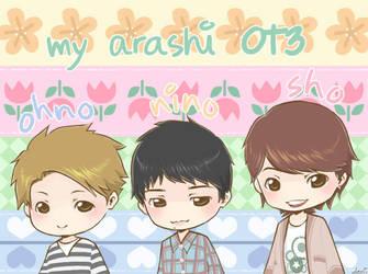 Arashi OT3 by demidemi