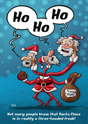 Three-Headed Santa by theod-design