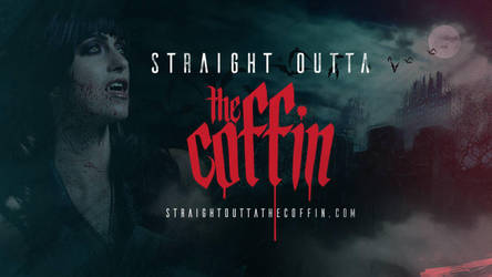 Straight Outta The Coffin - Vampire apparel by AshleyShyD