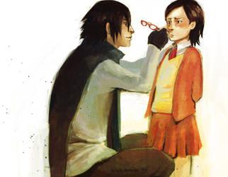 [Naruto] Sasuke and Sarada Uchiha by Barablu