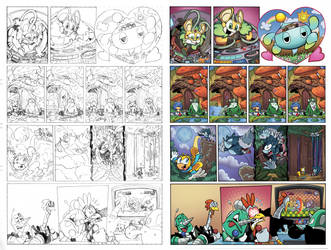 Sonic the hedgehog off panel Issues 265-9 pencils by Nerfuffle