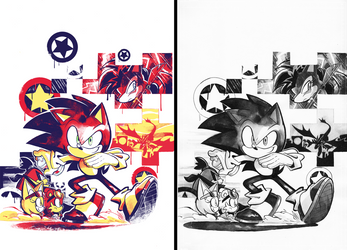 Sonic 283 cover by Nerfuffle