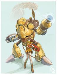 Terra Arm and Wondershot by robotnicc