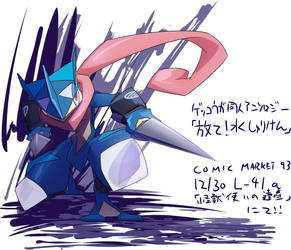 Greninja non-official Zine ''Fire! Water Shuriken' by new-ja