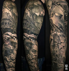 Realistic Nautical Sleeve by Remistattoo