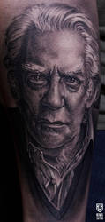 Realistic Donald Sutherland  Portrait Tattoo by Remistattoo