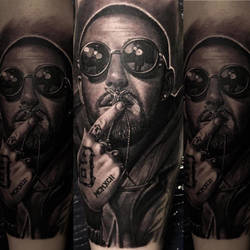 Realistic Mac Miller Tattoo by Remistattoo