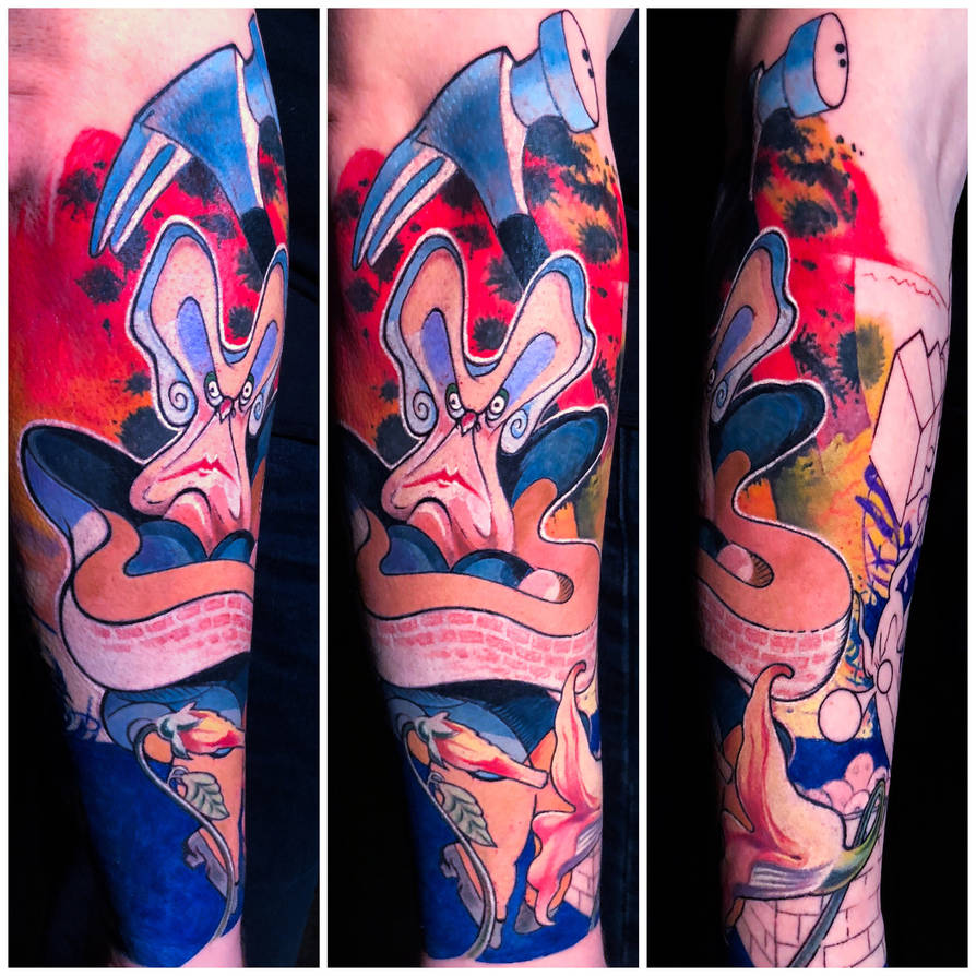 Color Pink Floyd Tattoo by Remistattoo
